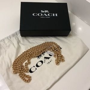 Coach Dinky Chain Strap in light gold